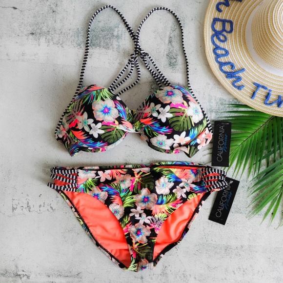 California Waves Other - California Waves | Hibiscus Punch Push-Up Bikini
